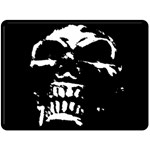Morbid Skull Double Sided Fleece Blanket (Large)