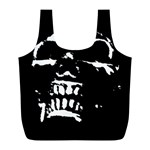 Morbid Skull Full Print Recycle Bag (L)