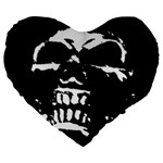 Morbid Skull Large 19  Premium Flano Heart Shape Cushion