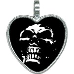 Morbid Skull Heart Necklace