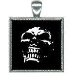 Morbid Skull Square Necklace
