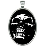 Morbid Skull Oval Necklace