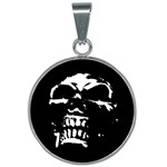 Morbid Skull 25mm Round Necklace