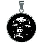 Morbid Skull 30mm Round Necklace