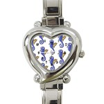 Sseahorses Heart Italian Charm Watch