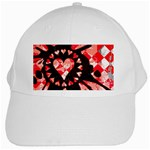 Love Heart Splatter White Cap