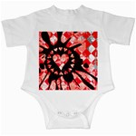 Love Heart Splatter Infant Creeper