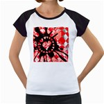 Love Heart Splatter Women s Cap Sleeve T