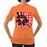 Love Heart Splatter Women s Dark T-Shirt