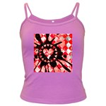 Love Heart Splatter Dark Spaghetti Tank