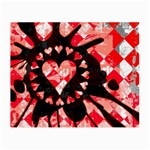 Love Heart Splatter Small Glasses Cloth
