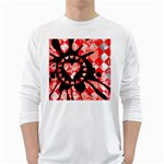 Love Heart Splatter Long Sleeve T-Shirt