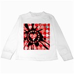 Love Heart Splatter Kids  Long Sleeve T-Shirt