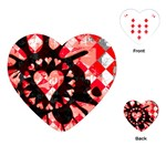 Love Heart Splatter Playing Cards Single Design (Heart)