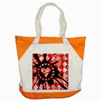 Love Heart Splatter Accent Tote Bag