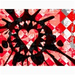 Love Heart Splatter Canvas 12  x 16