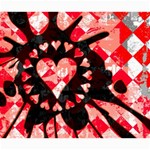 Love Heart Splatter Canvas 20  x 24