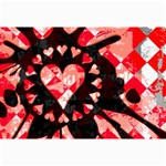 Love Heart Splatter Canvas 24  x 36