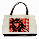 Love Heart Splatter Basic Tote Bag (Two Sides)