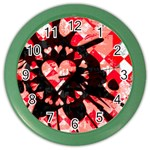 Love Heart Splatter Color Wall Clock