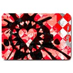 Love Heart Splatter Large Doormat