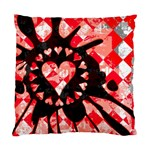 Love Heart Splatter Standard Cushion Case (One Side)