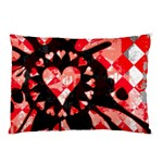 Love Heart Splatter Pillow Case