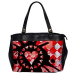 Love Heart Splatter Oversize Office Handbag