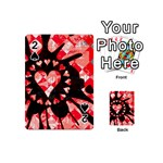 Love Heart Splatter Playing Cards 54 Designs (Mini)