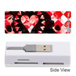 Love Heart Splatter Memory Card Reader (Stick)