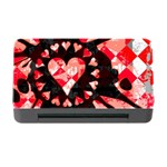 Love Heart Splatter Memory Card Reader with CF