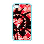 Love Heart Splatter iPhone 4 Case (Color)