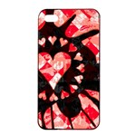 Love Heart Splatter iPhone 4/4s Seamless Case (Black)