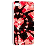 Love Heart Splatter iPhone 4/4s Seamless Case (White)