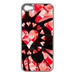 Love Heart Splatter iPhone 5 Case (Silver)