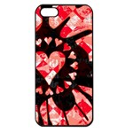 Love Heart Splatter iPhone 5 Seamless Case (Black)