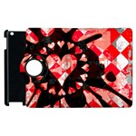 Love Heart Splatter Apple iPad 2 Flip 360 Case