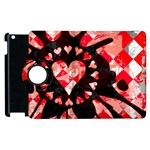 Love Heart Splatter Apple iPad 3/4 Flip 360 Case