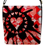 Love Heart Splatter Flap Closure Messenger Bag (S)