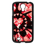 Love Heart Splatter Samsung Galaxy S4 I9500/ I9505 Case (Black)