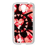 Love Heart Splatter Samsung GALAXY S4 I9500/ I9505 Case (White)
