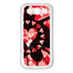 Love Heart Splatter Samsung Galaxy S3 Back Case (White)