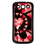 Love Heart Splatter Samsung Galaxy S3 Back Case (Black)