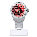 Love Heart Splatter Plastic Nurses Watch