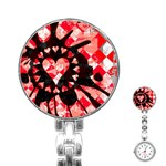 Love Heart Splatter Stainless Steel Nurses Watch