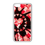 Love Heart Splatter iPhone 5C Seamless Case (White)