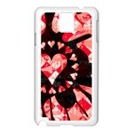 Love Heart Splatter Samsung Galaxy Note 3 N9005 Case (White)