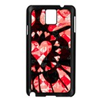 Love Heart Splatter Samsung Galaxy Note 3 N9005 Case (Black)