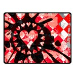Love Heart Splatter Double Sided Fleece Blanket (Small)