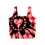 Love Heart Splatter Full Print Recycle Bag (S)